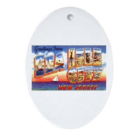 Sea Isle City New Jersey Oval Ornament