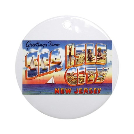 Sea Isle City New Jersey Ornament (Round)