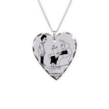Welded Braces Necklace Heart Charm