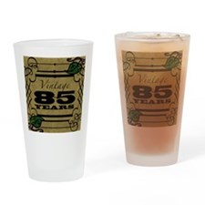 Vintage 85th Birthday (Gold) Drinking Glass