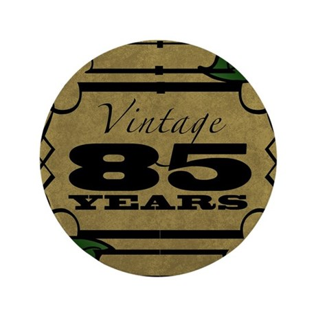 "Vintage 85th Birthday (Gold) 3.5"" Button"