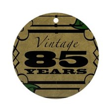 Vintage 85th Birthday (Gold) Round Ornament