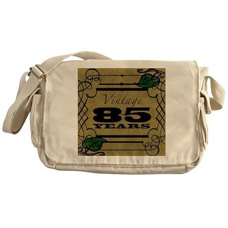 Vintage 85th Birthday (Gold) Messenger Bag