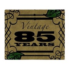 Vintage 85th Birthday (Gold) Throw Blanket