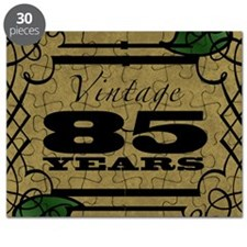 Vintage 85th Birthday (Gold) Puzzle