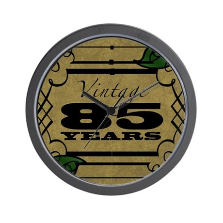 Vintage 85th Birthday (Gold) Wall Clock