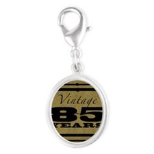 Vintage 85th Birthday (Gold) Silver Oval Charm