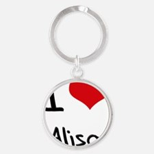 I Love Alisa Round Keychain