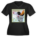Bantam Chickens Women's Plus Size V-Neck Dark T-Sh