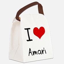 I Love Amari Canvas Lunch Bag