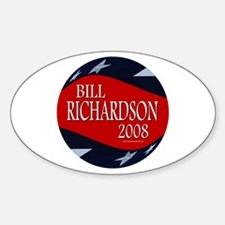 Bill Richardson 3-D Stars Oval Decal
