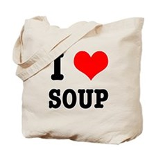 I Heart (Love) Soup Tote Bag