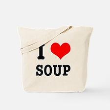 I Heart (Love) Soup Tote Bag