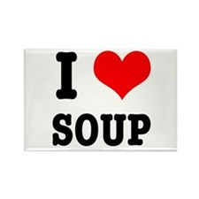 I Heart (Love) Soup Rectangle Magnet