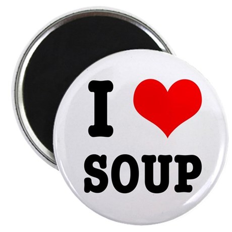 I Heart (Love) Soup Magnet