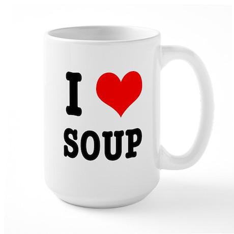 I Heart (Love) Soup Large Mug