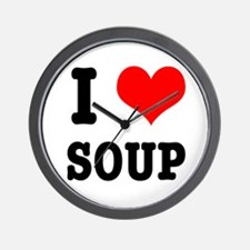 I Heart (Love) Soup Wall Clock