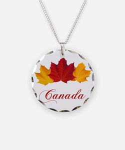 Canadian Maple Leaves Necklace