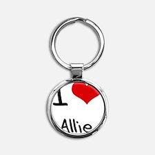I Love Allie Round Keychain
