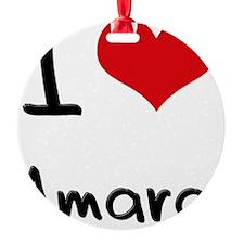 I Love Amara Round Ornament