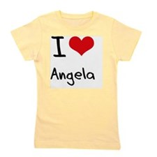 I Love Angela Girl's Tee