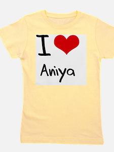 I Love Aniya Girl's Tee