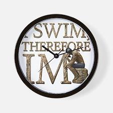 I Swim Therefore IM Wall Clock