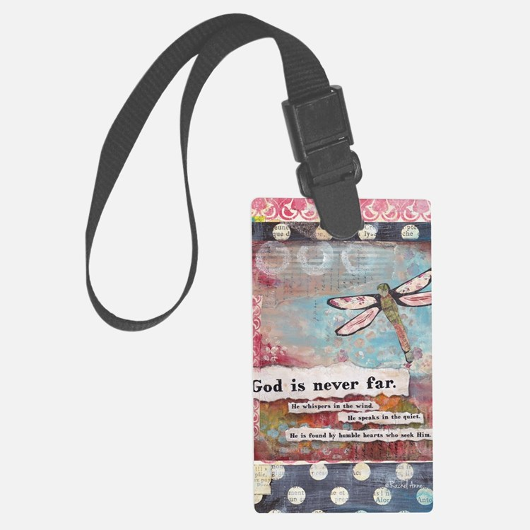 God is Never Far Luggage Tag