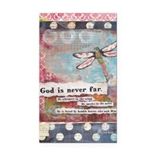God is Never Far Rectangle Car Magnet