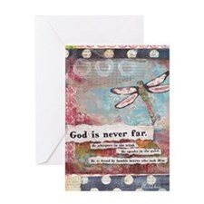 God is Never Far Greeting Card