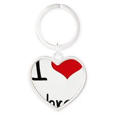 I Love Aubree Heart Keychain