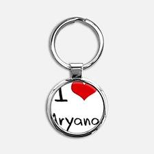I Love Aryana Round Keychain