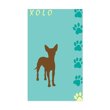 xoloitzcuintli paws Rectangle Sticker