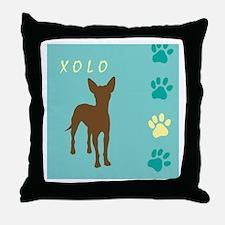 xoloitzcuintli paws Throw Pillow