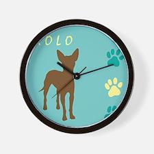 xoloitzcuintli paws Wall Clock