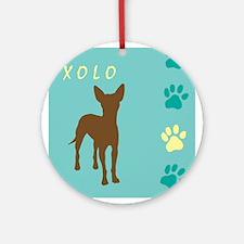 xoloitzcuintli paws Ornament (Round)