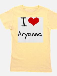 I Love Aryanna Girl's Tee