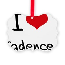 I Love Cadence Picture Ornament