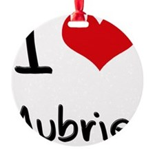 I Love Aubrie Ornament