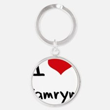 I Love Camryn Round Keychain