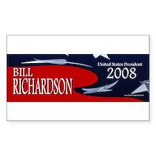 Bill Richardson 3-D Stars Rectangle Decal