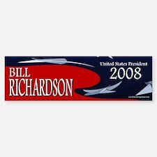 Bill Richardson 3-D Stars Bumper Bumper Bumper Sticker