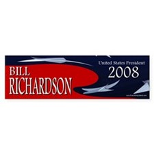 Bill Richardson 3-D Stars Bumper Car Sticker