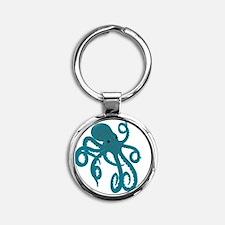 Octopus Round Keychain