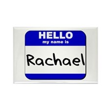 hello my name is rachael Rectangle Magnet