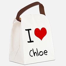 I Love Chloe Canvas Lunch Bag
