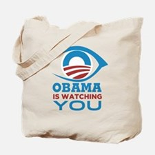 Obama Is Watching You (With Eye) - Team S Tote Bag