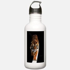 Tiger on moon path Water Bottle