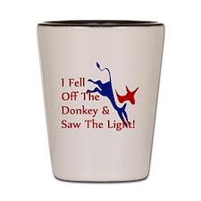Democrat Donkey Converts Shot Glass