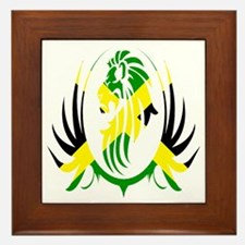 Jamaican Lion Framed Tile